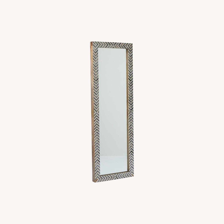 West Elm Parsons Herringbone Floor Mirror - image-0