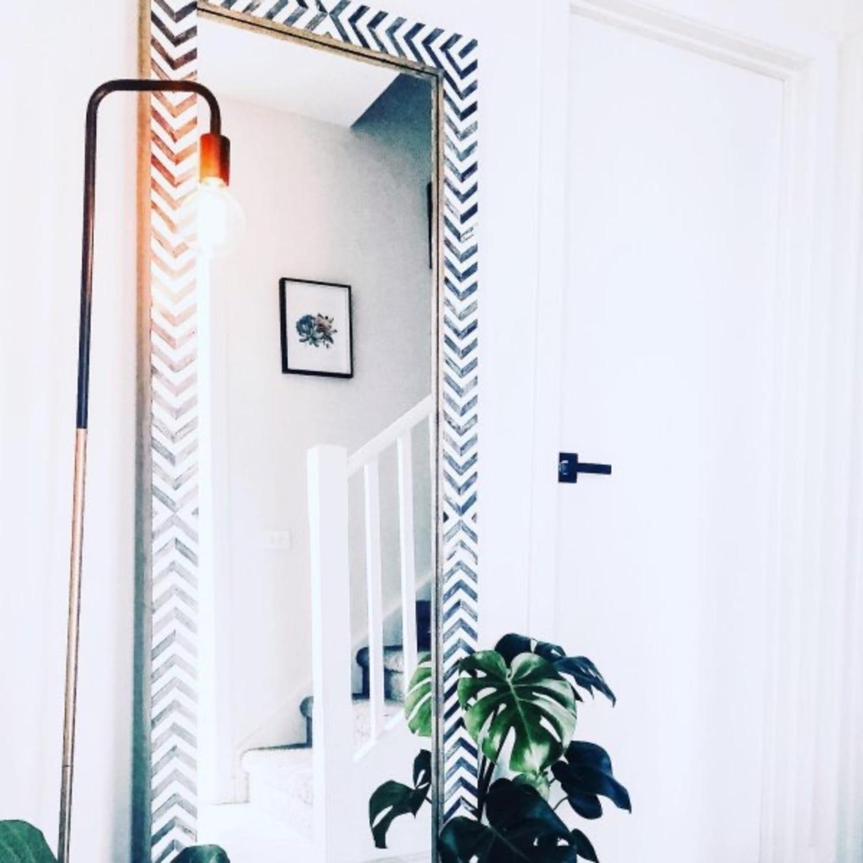 West Elm Parsons Herringbone Floor Mirror - image-4