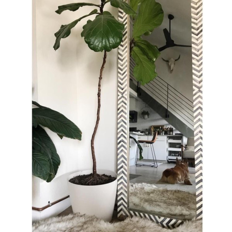 West Elm Parsons Herringbone Floor Mirror - image-3