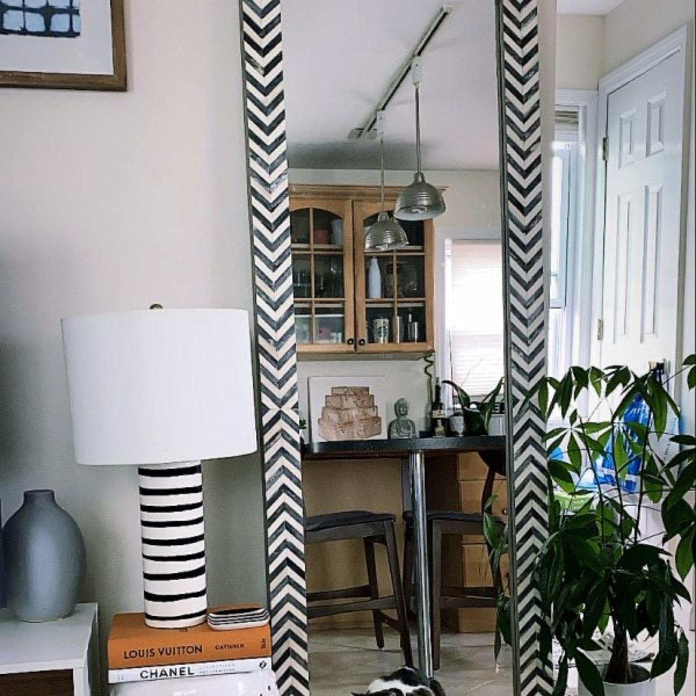West Elm Parsons Herringbone Floor Mirror - image-2