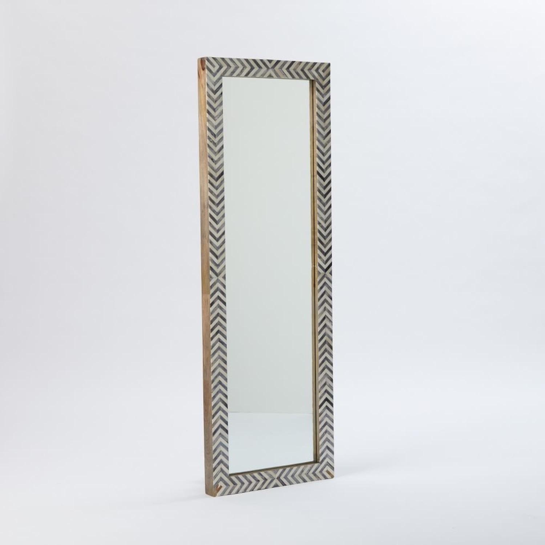 West Elm Parsons Herringbone Floor Mirror - image-1