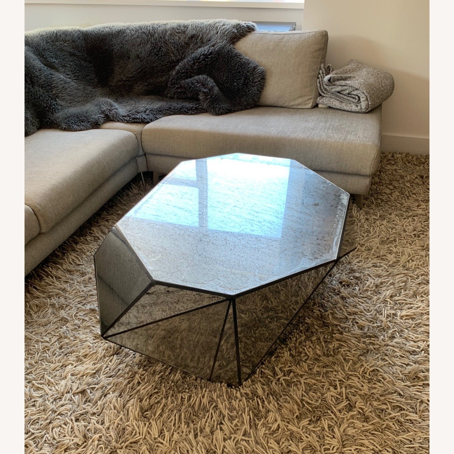 Anthropologie Modern Mirror Coffee Table - image-1