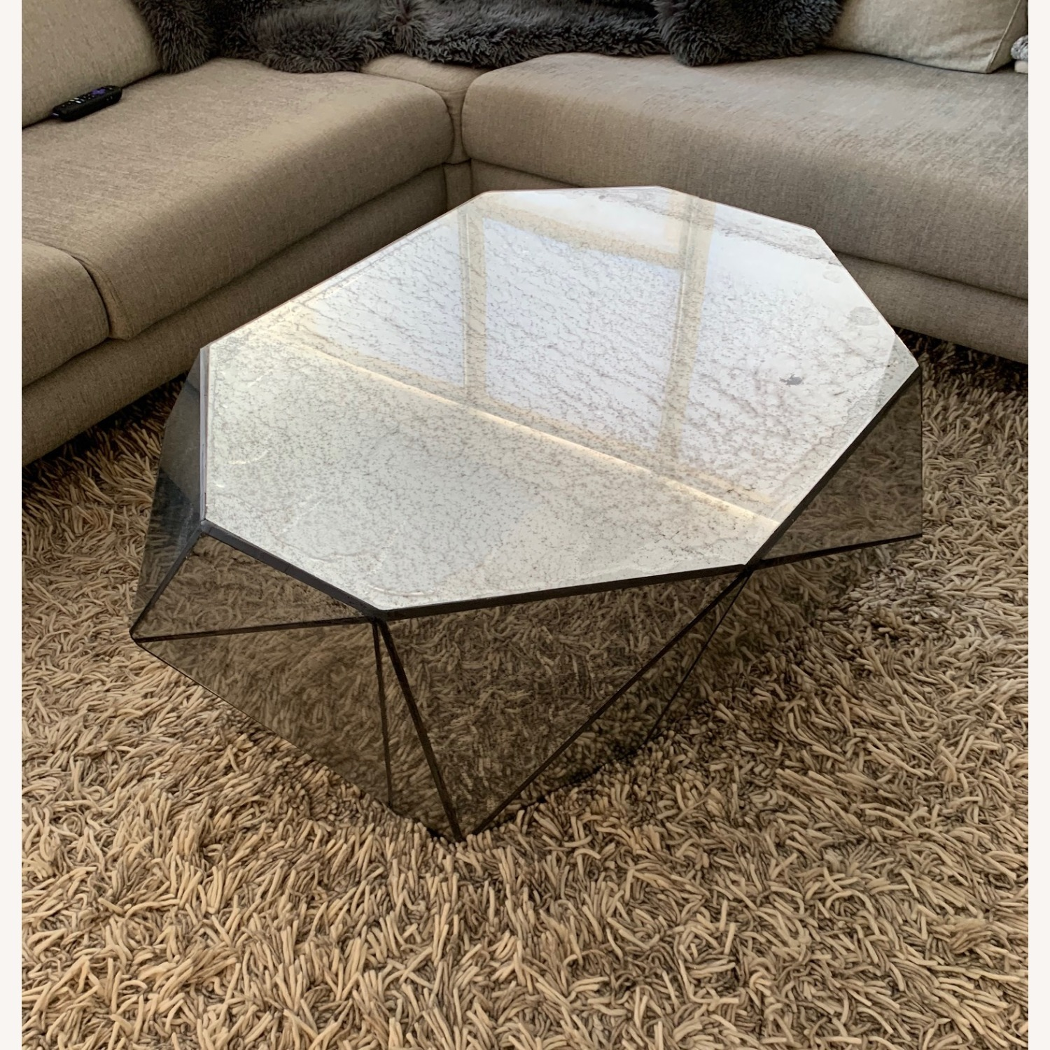 Anthropologie Modern Mirror Coffee Table - image-3