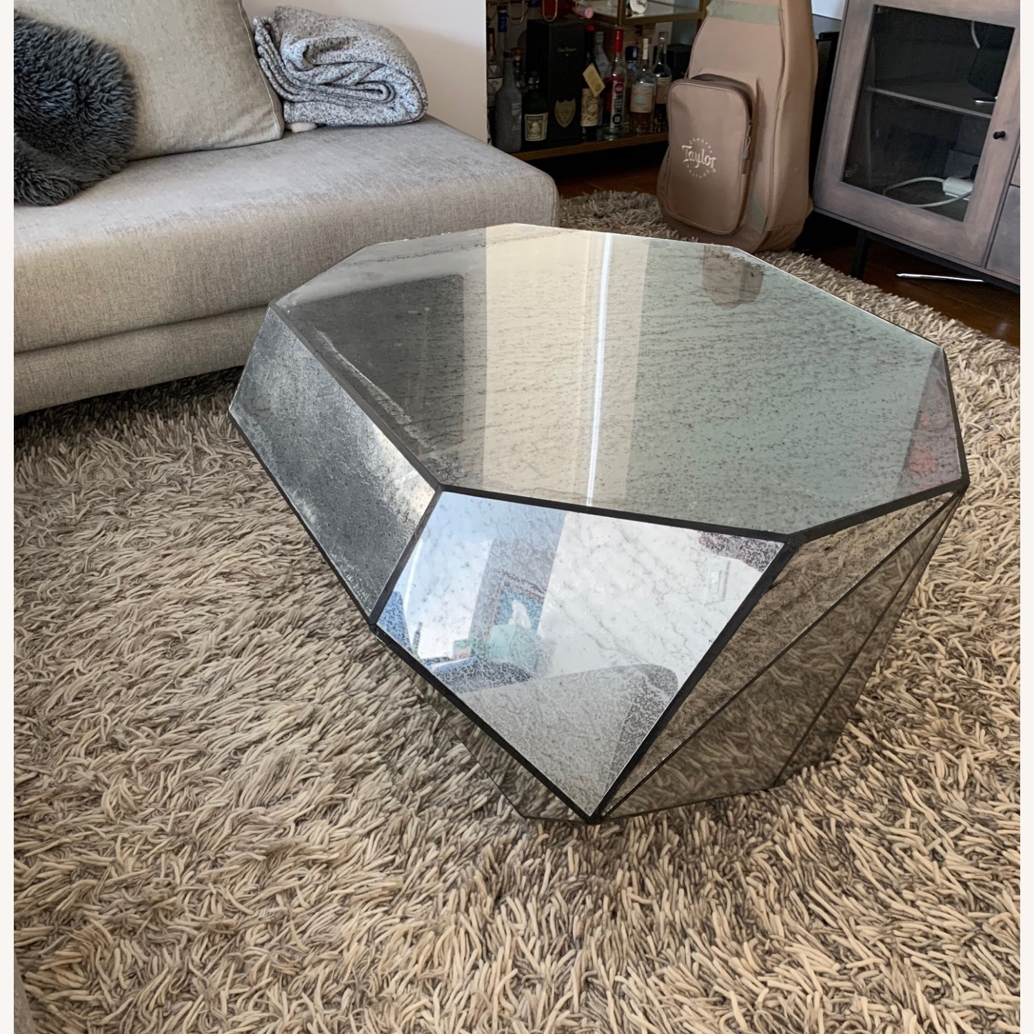 Anthropologie Modern Mirror Coffee Table - image-2