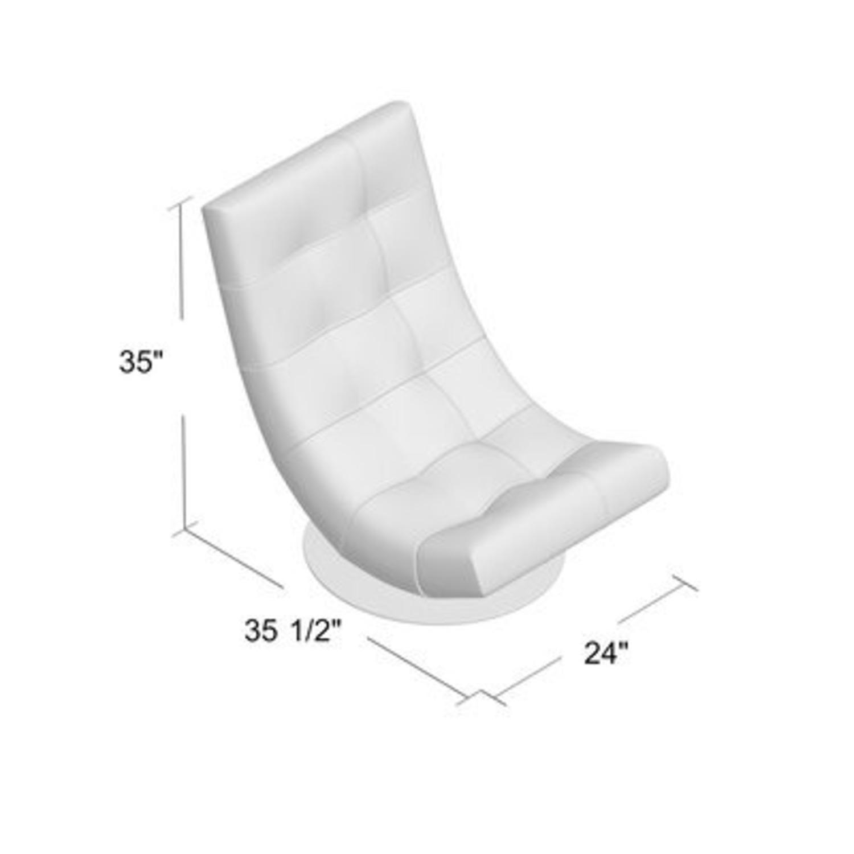 Modern Sleek Swivel Faux Leather Lounge - image-3