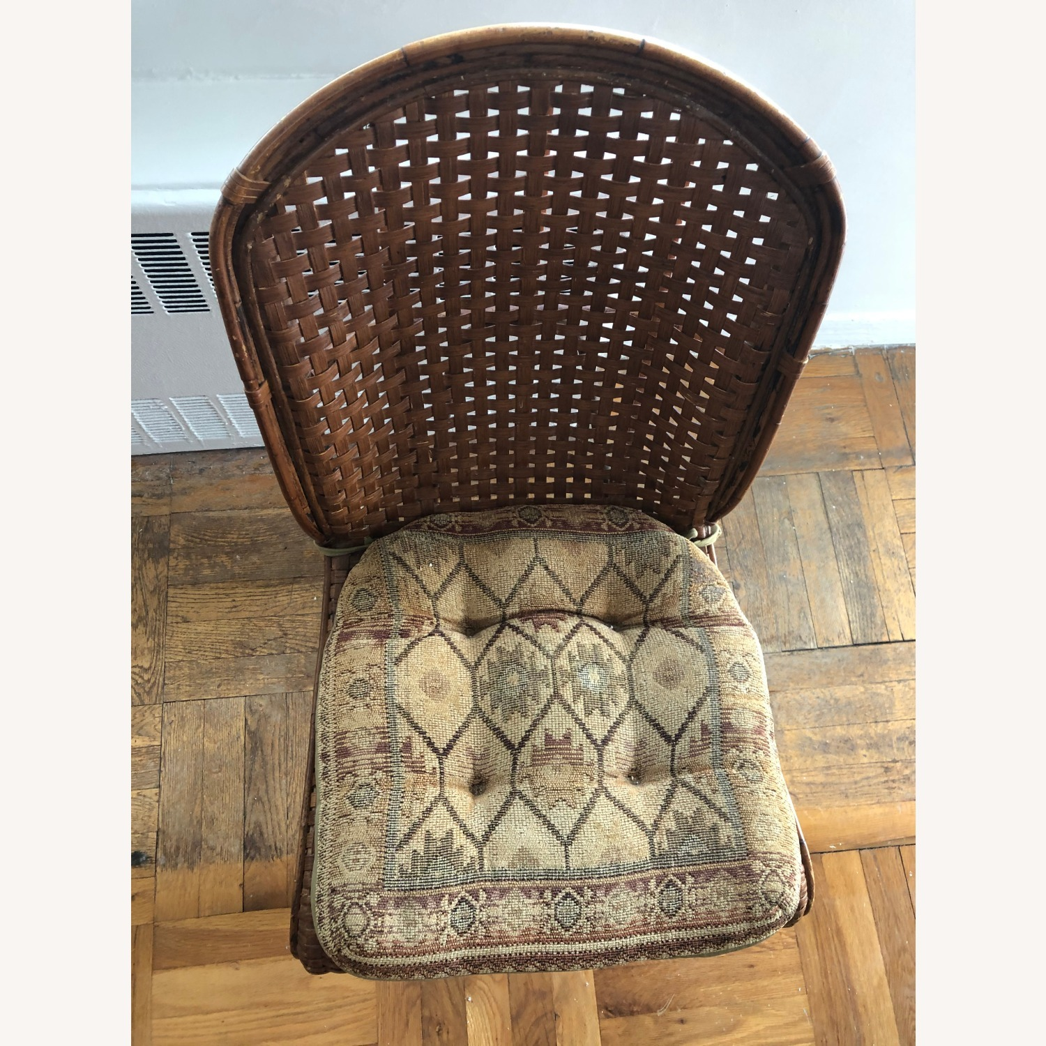 Wicker Dining Room Chairs (Set of 4) with coushins - image-2