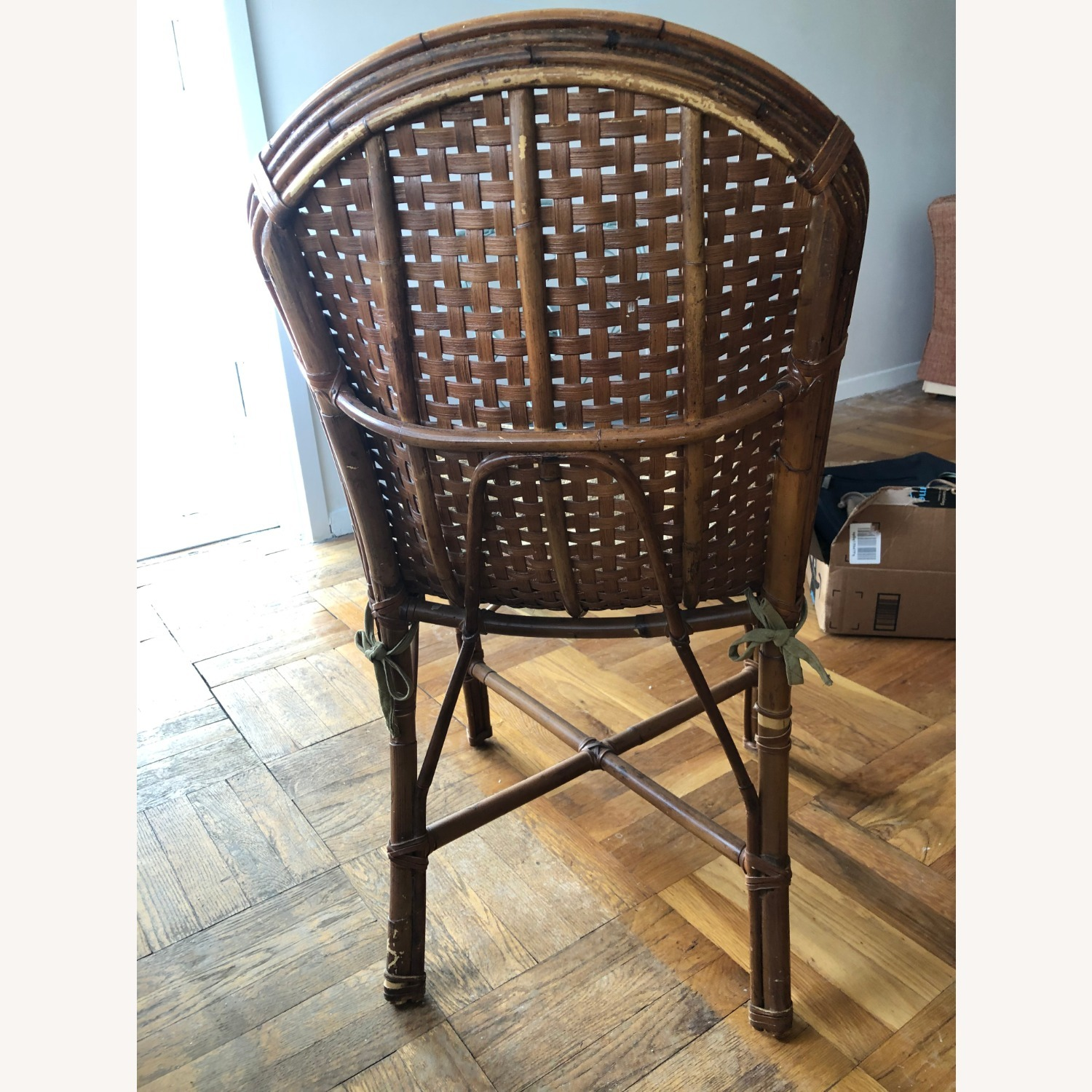 Wicker Dining Room Chairs (Set of 4) with coushins - image-4