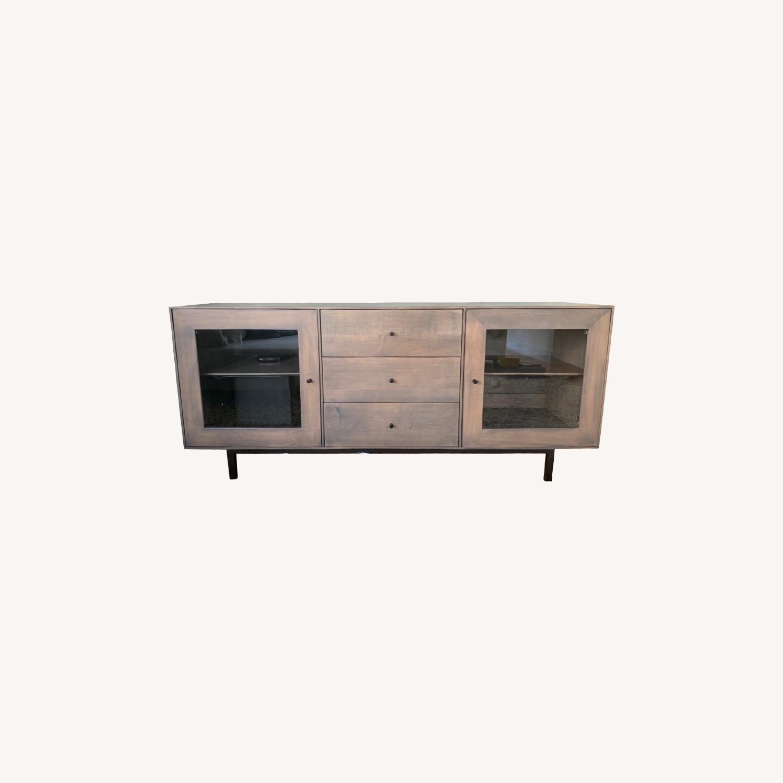 Room & Board Hudson Wood Media Cabinets - image-0