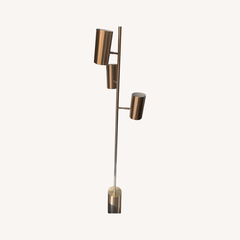 CB2 Trio Floor Lamp - Brass - image-0