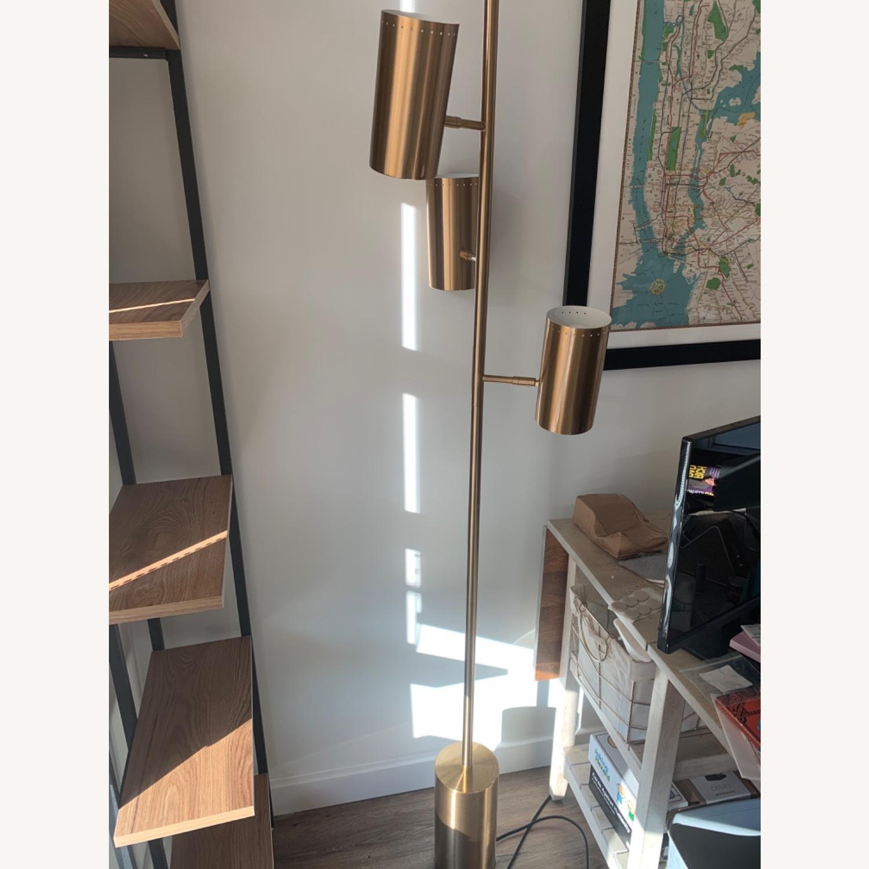 CB2 Trio Floor Lamp - Brass - image-3