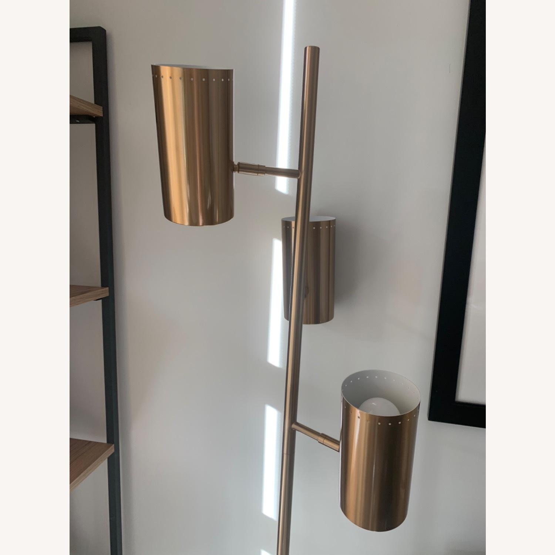 CB2 Trio Floor Lamp - Brass - image-2