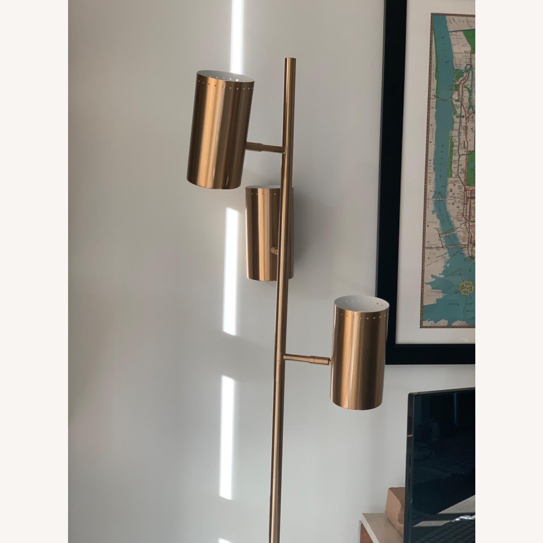 CB2 Trio Floor Lamp - Brass - image-1