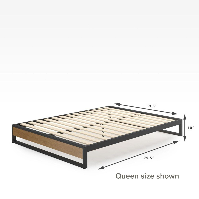 Zinus Suzanne Metal and Wood Platforma Bed Frame - image-3