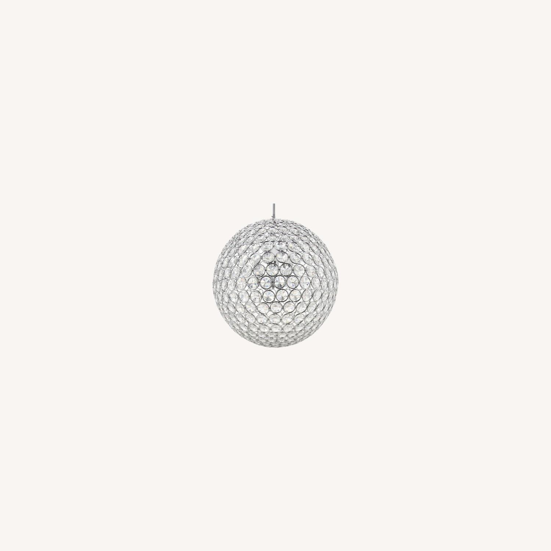 8-lit Crystal Sphere Chandelier - image-0