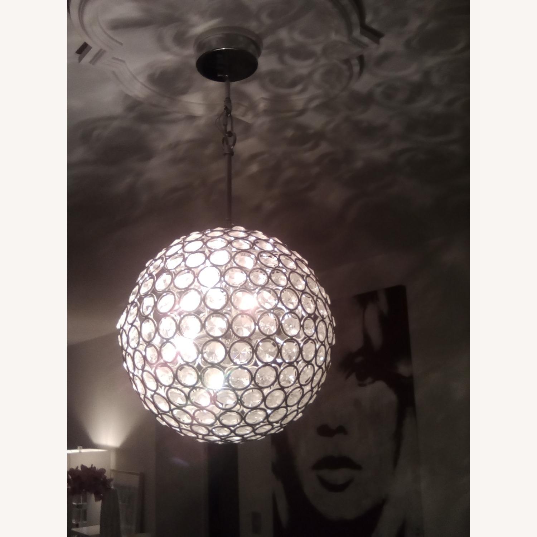 8-lit Crystal Sphere Chandelier - image-1