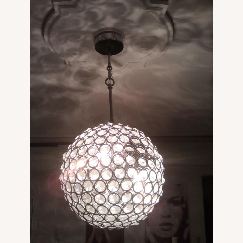 8-lit Crystal Sphere Chandelier - image-3