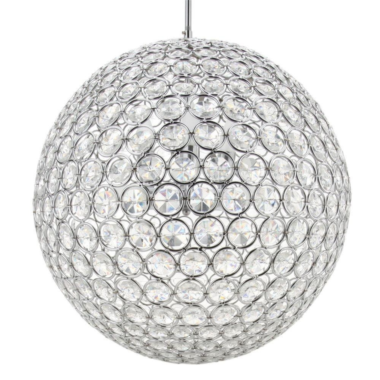 8-lit Crystal Sphere Chandelier - image-2