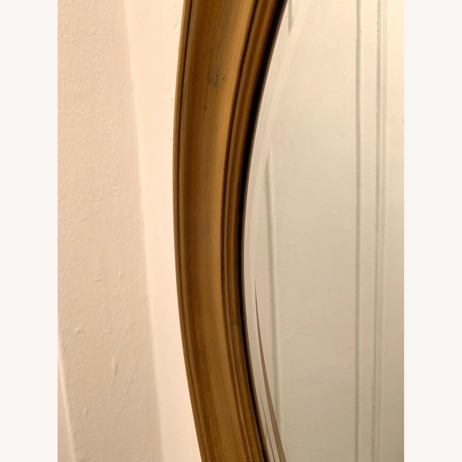 Oval Giltwood Frame with Beveled Mirror - image-4