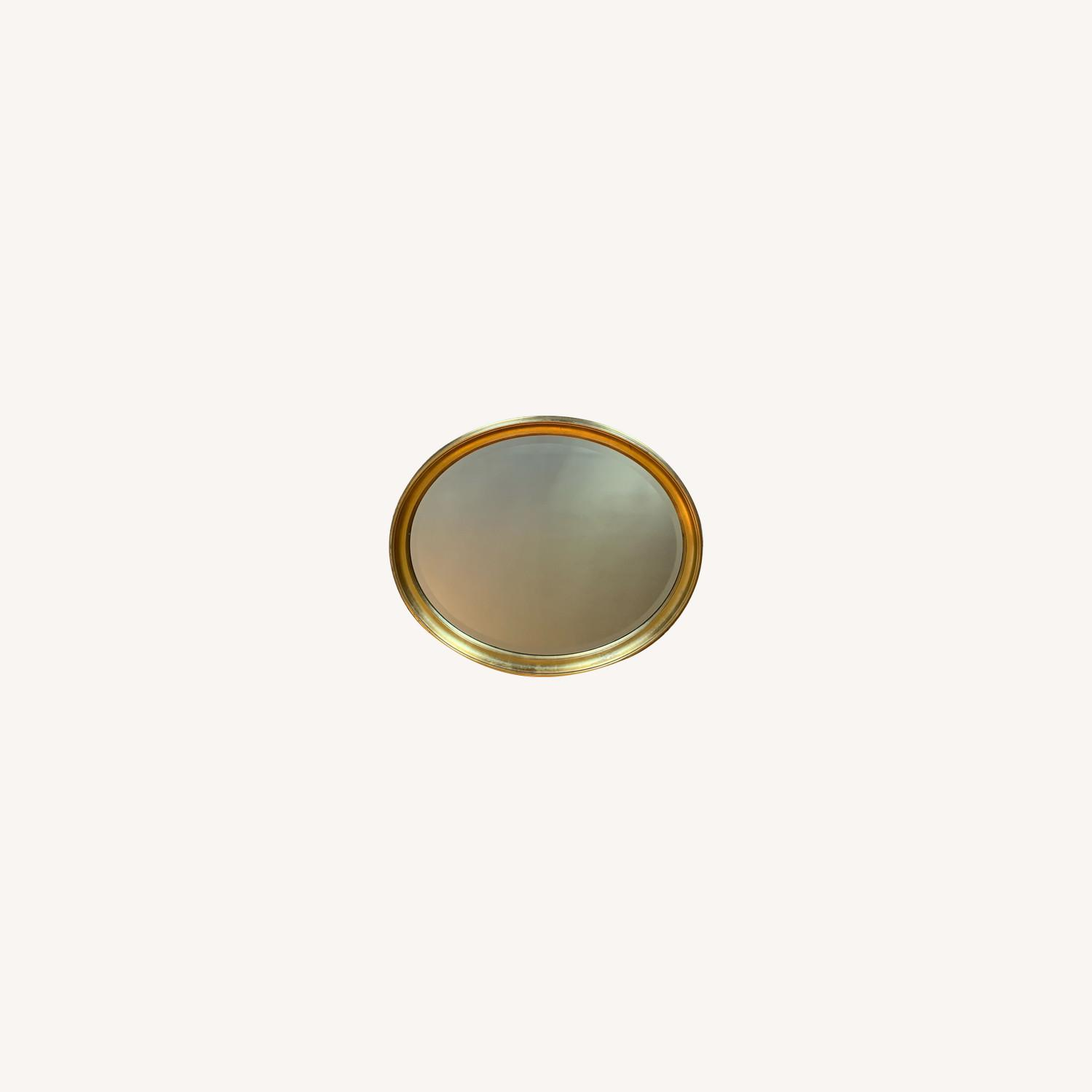 Oval Giltwood Frame with Beveled Mirror - image-0