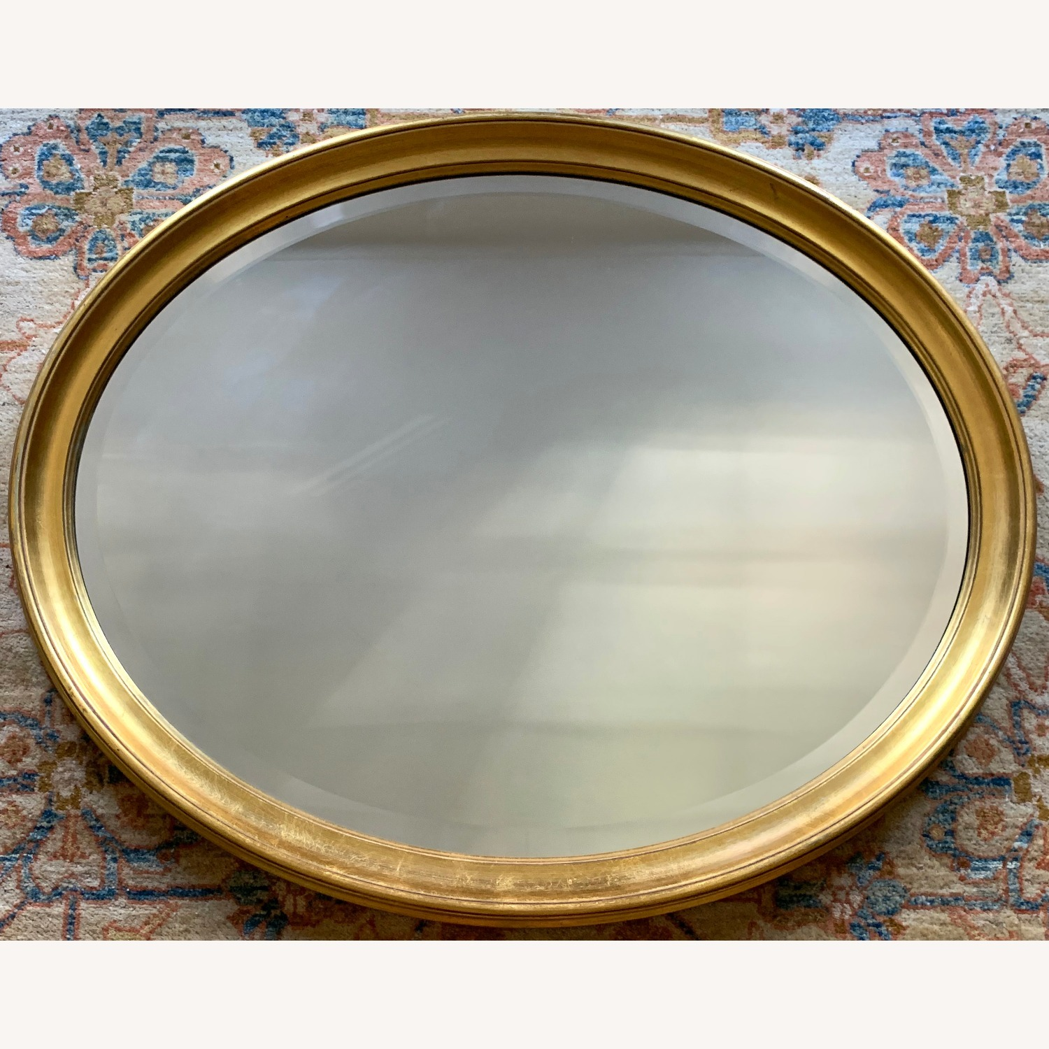 Oval Giltwood Frame with Beveled Mirror - image-2