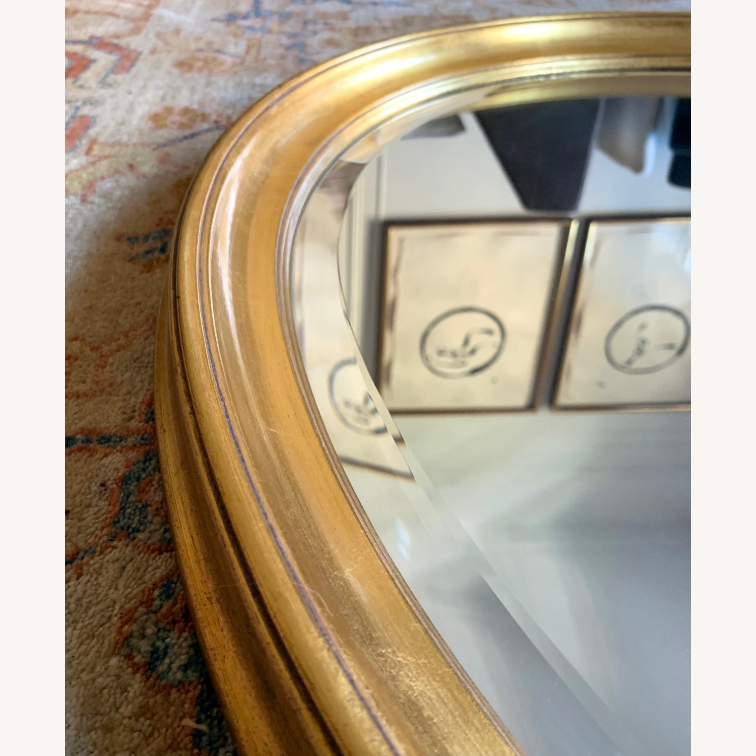 Oval Giltwood Frame with Beveled Mirror - image-7