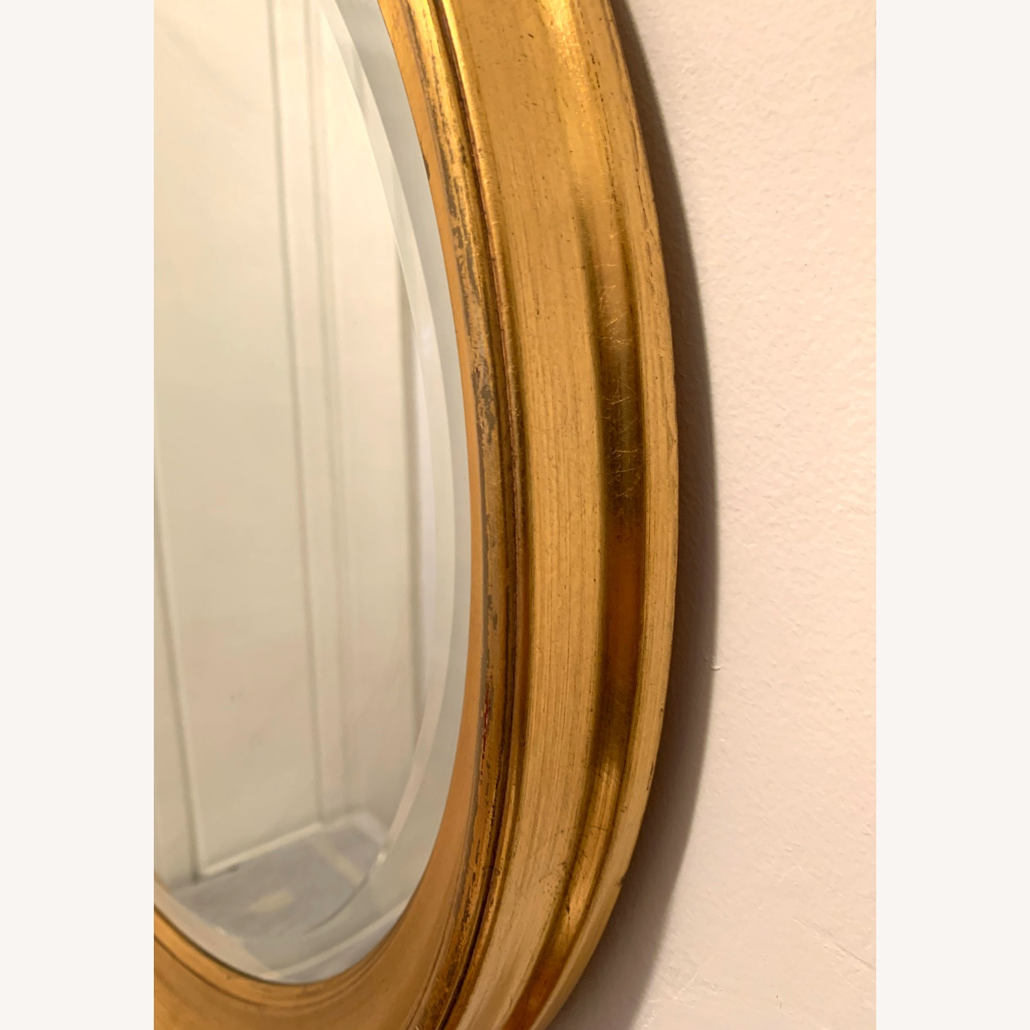 Oval Giltwood Frame with Beveled Mirror - image-5