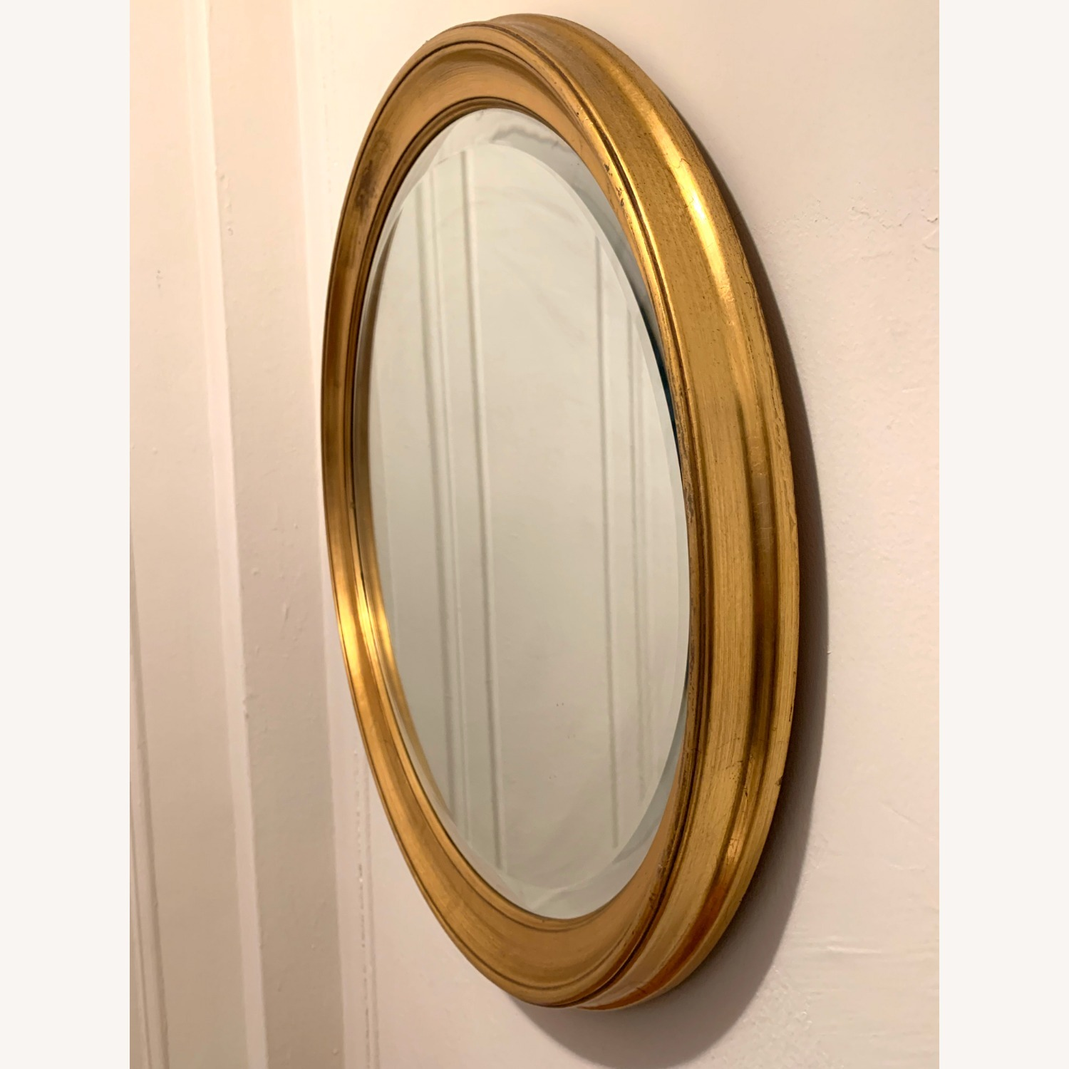 Oval Giltwood Frame with Beveled Mirror - image-3