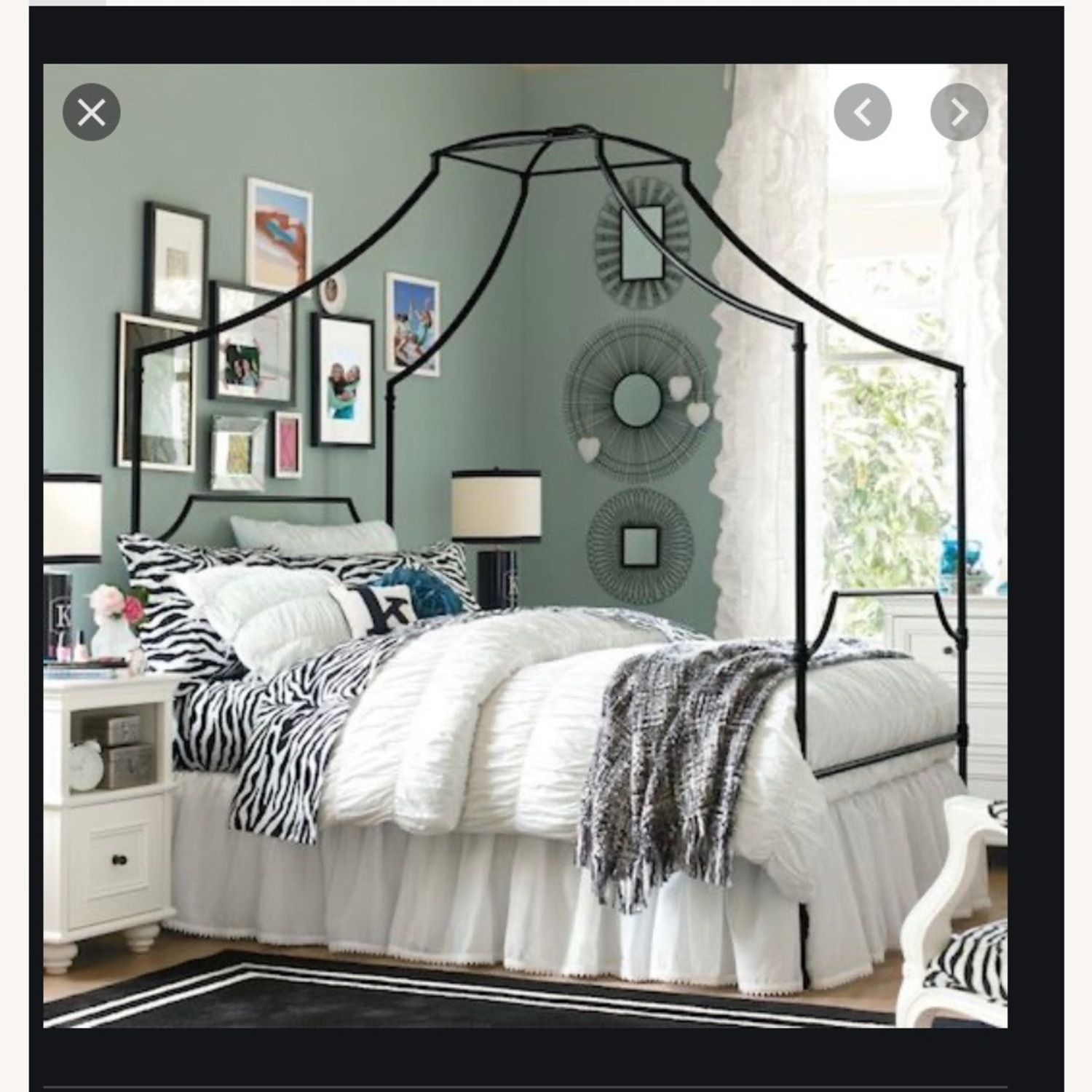 Pottery Barn Teen Maison Canopy Bed - image-3