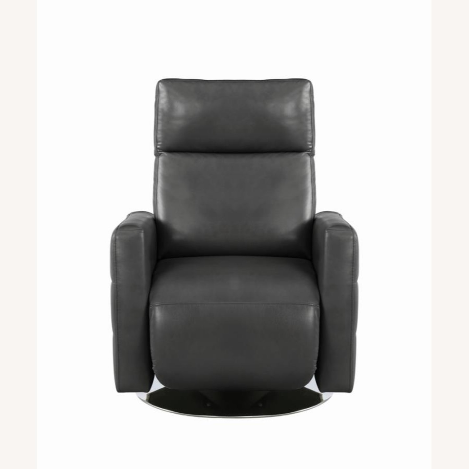 Swivel Recliner In Grey Performance - image-2