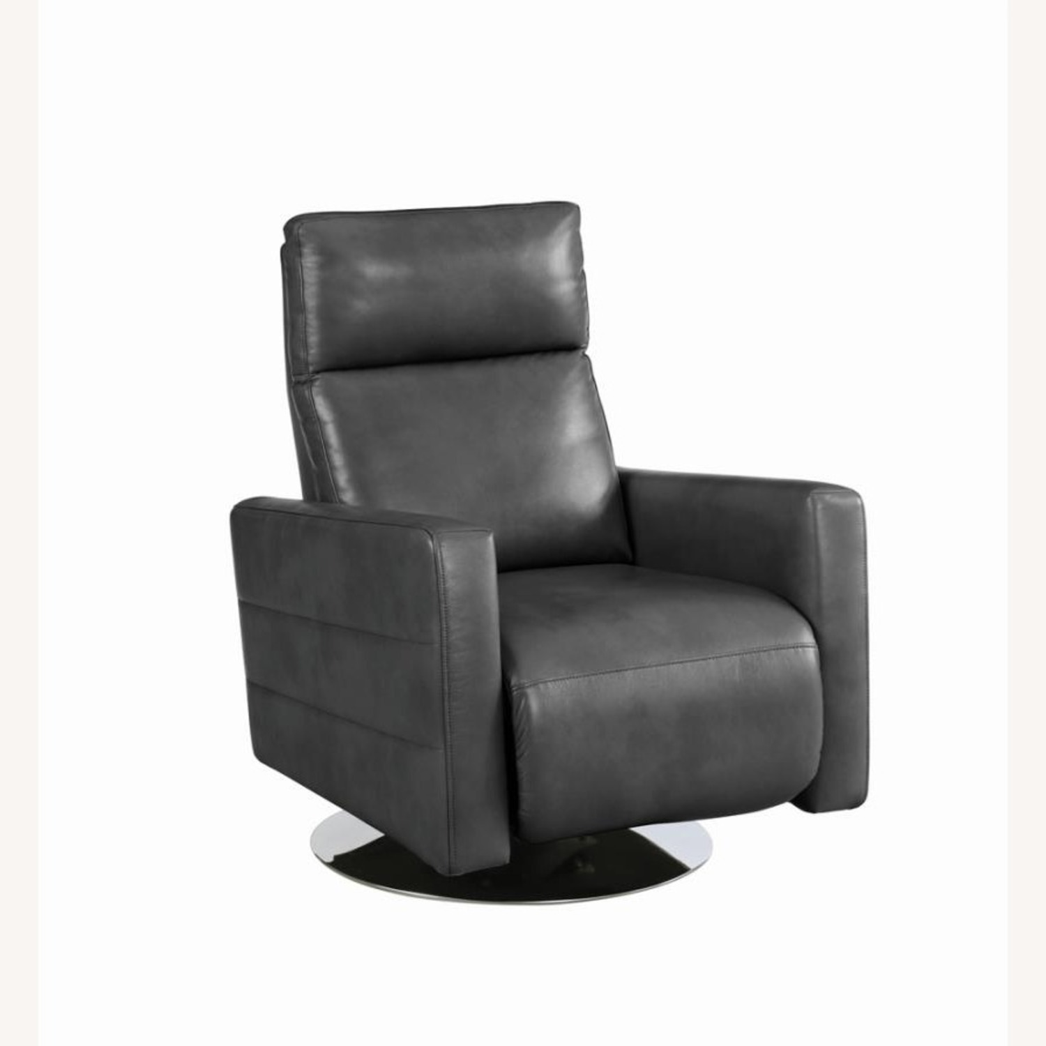 Swivel Recliner In Grey Performance - image-0