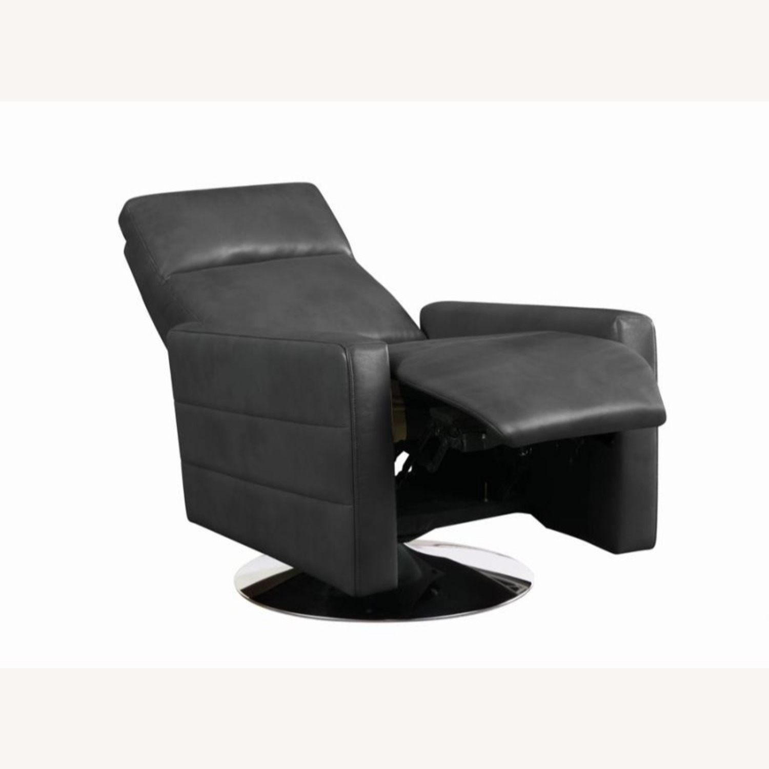 Swivel Recliner In Grey Performance - image-1