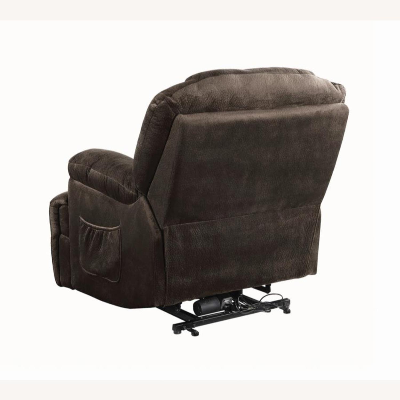 Power Lift Recliner In Chocolate Velvet Upholstery - image-5