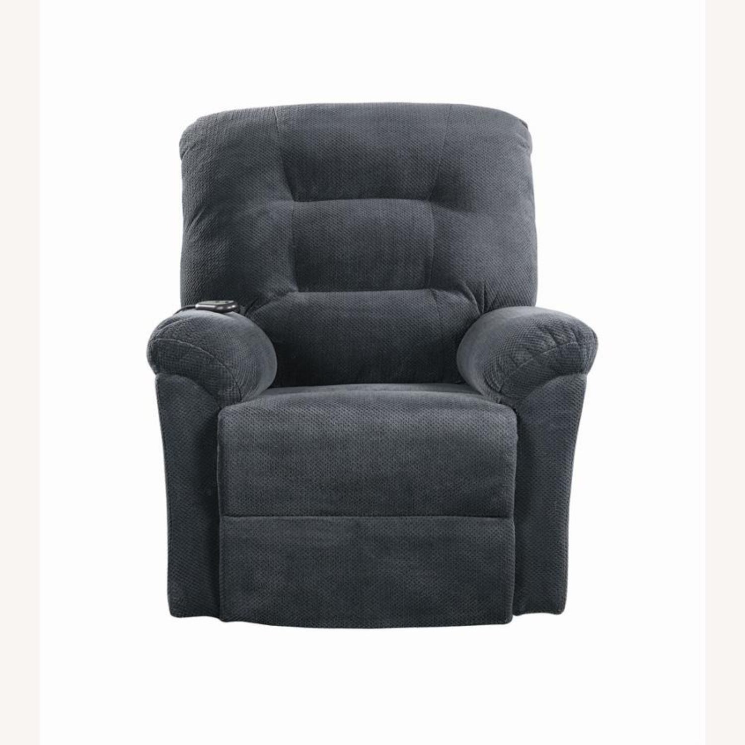 Power Lift Recliner In Charcoal Chenille Fabric - image-3