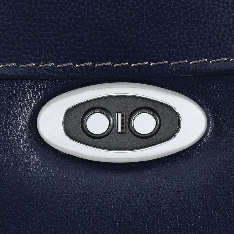 Power Recliner In Ink Blue Velvet Leather - image-7