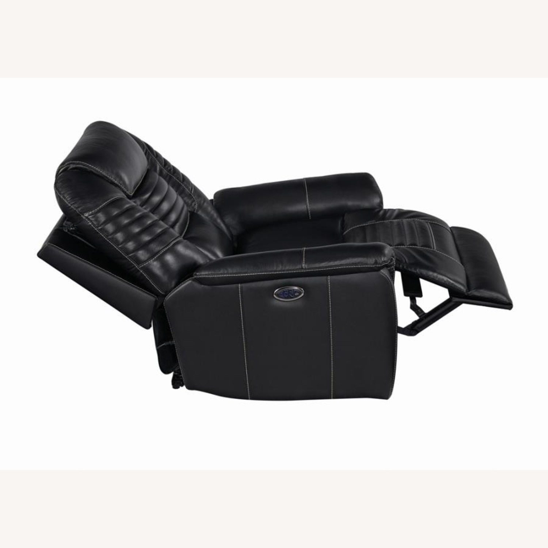 Power Recliner In Black Top Grain Leather - image-2