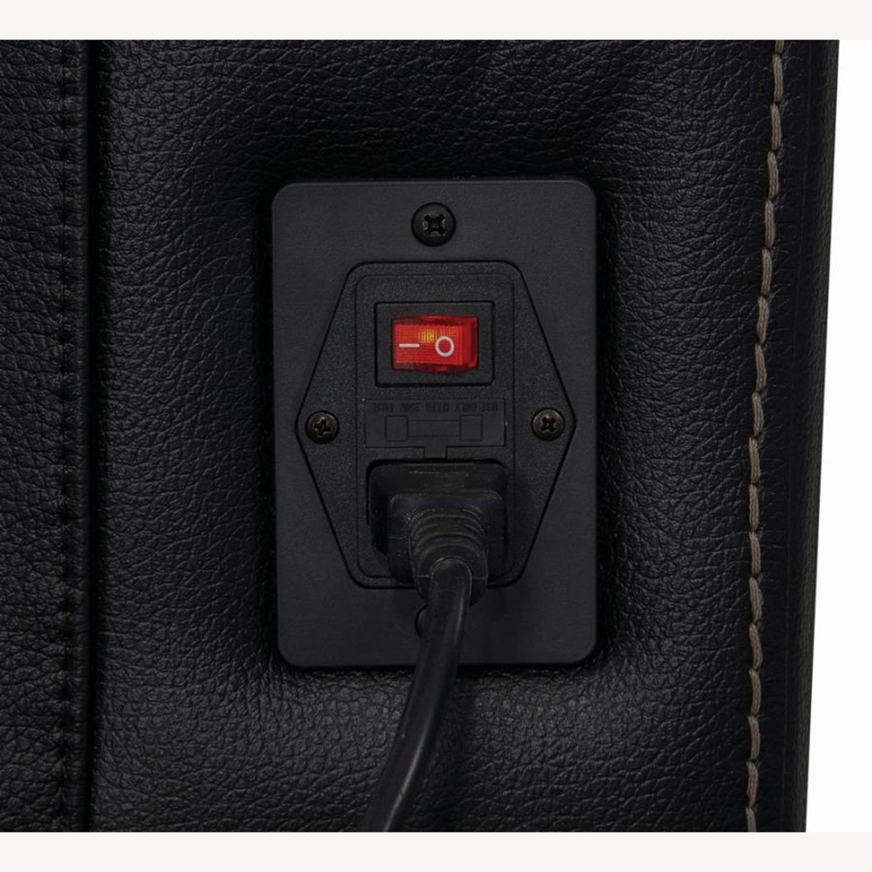 Power Recliner In Black Top Grain Leather - image-6