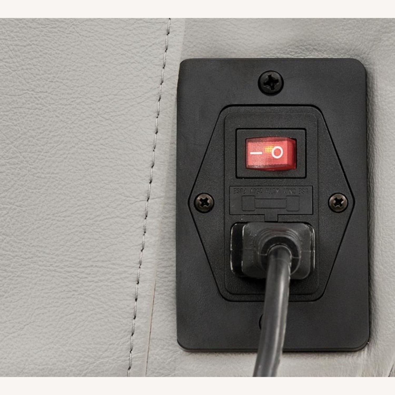 Power Recliner In Light Grey Top Grain Leather - image-6