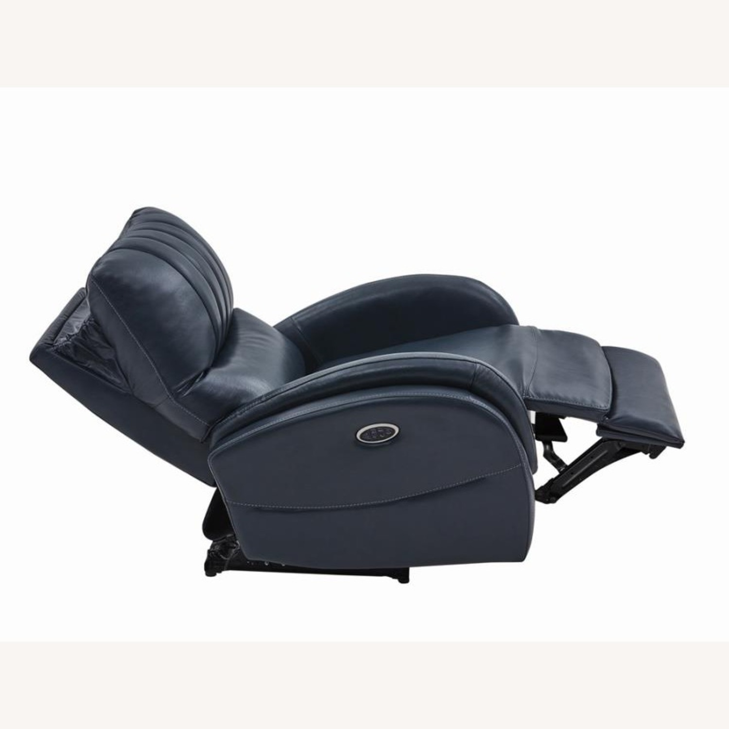 Power Recliner In Blue Top Grain Leather - image-2