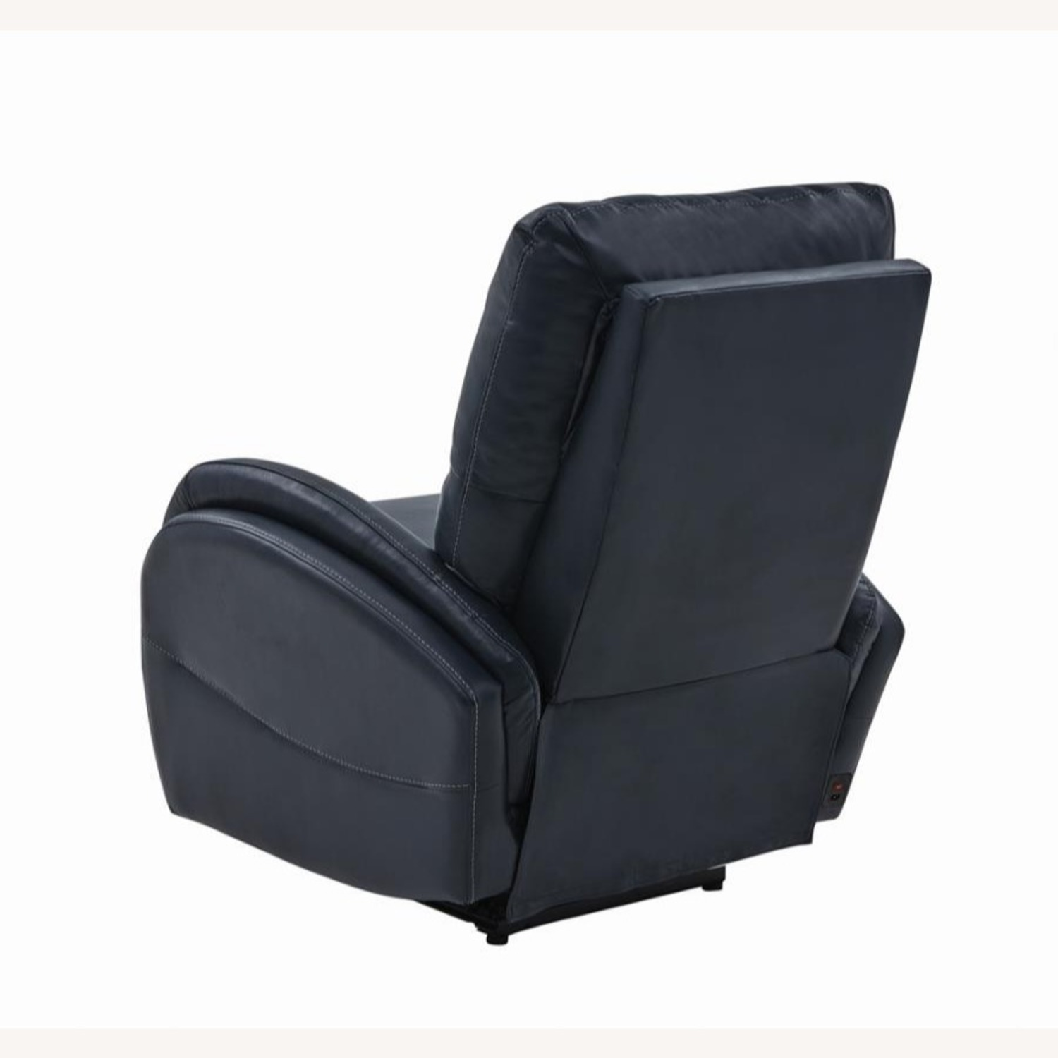 Power Recliner In Blue Top Grain Leather - image-4