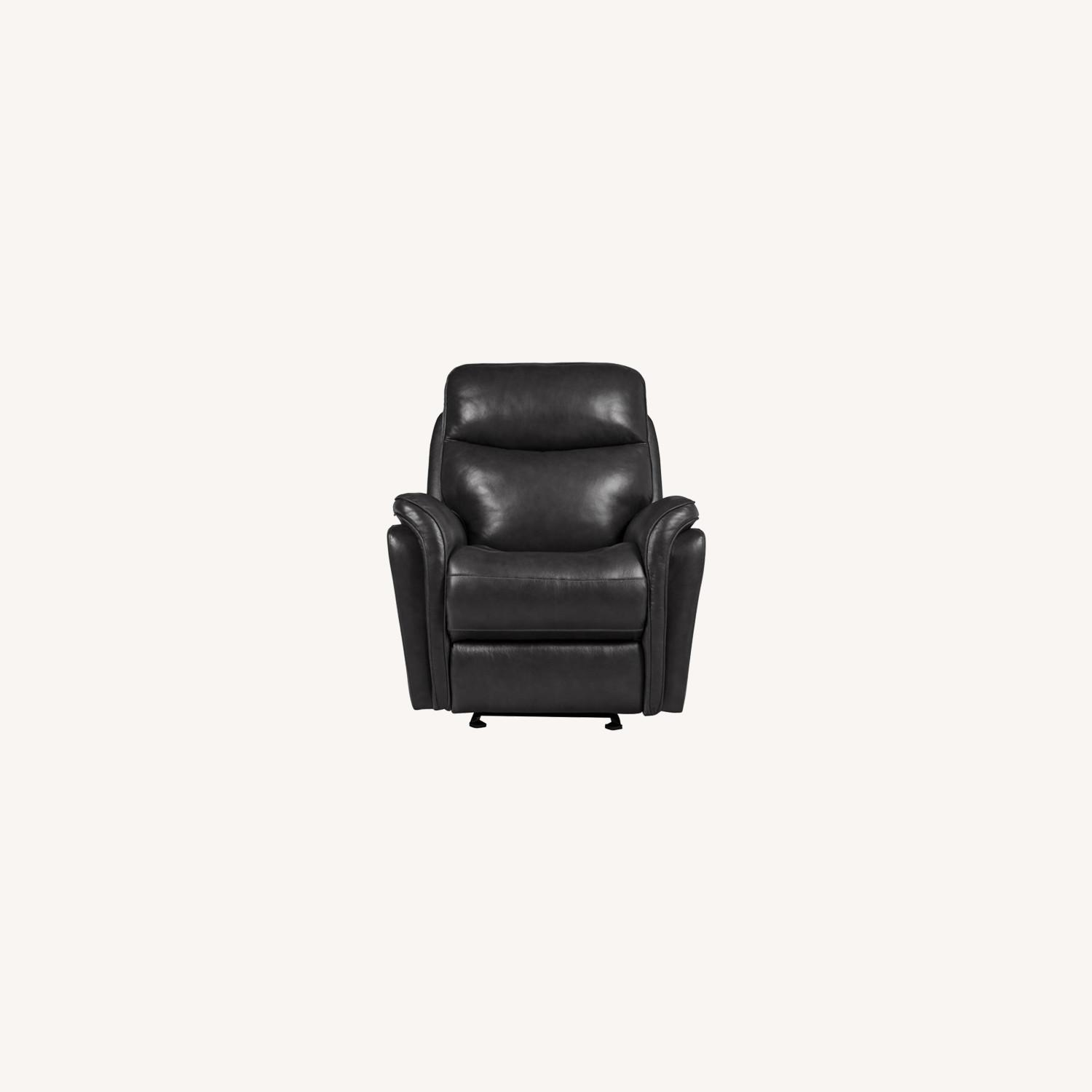 Power Glider Recliner In Charcoal Leather - image-8