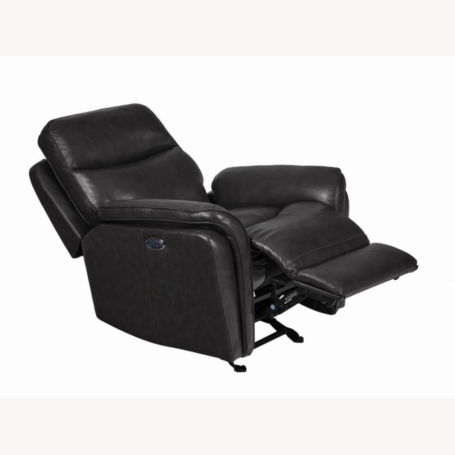 Power Glider Recliner In Charcoal Leather - image-1