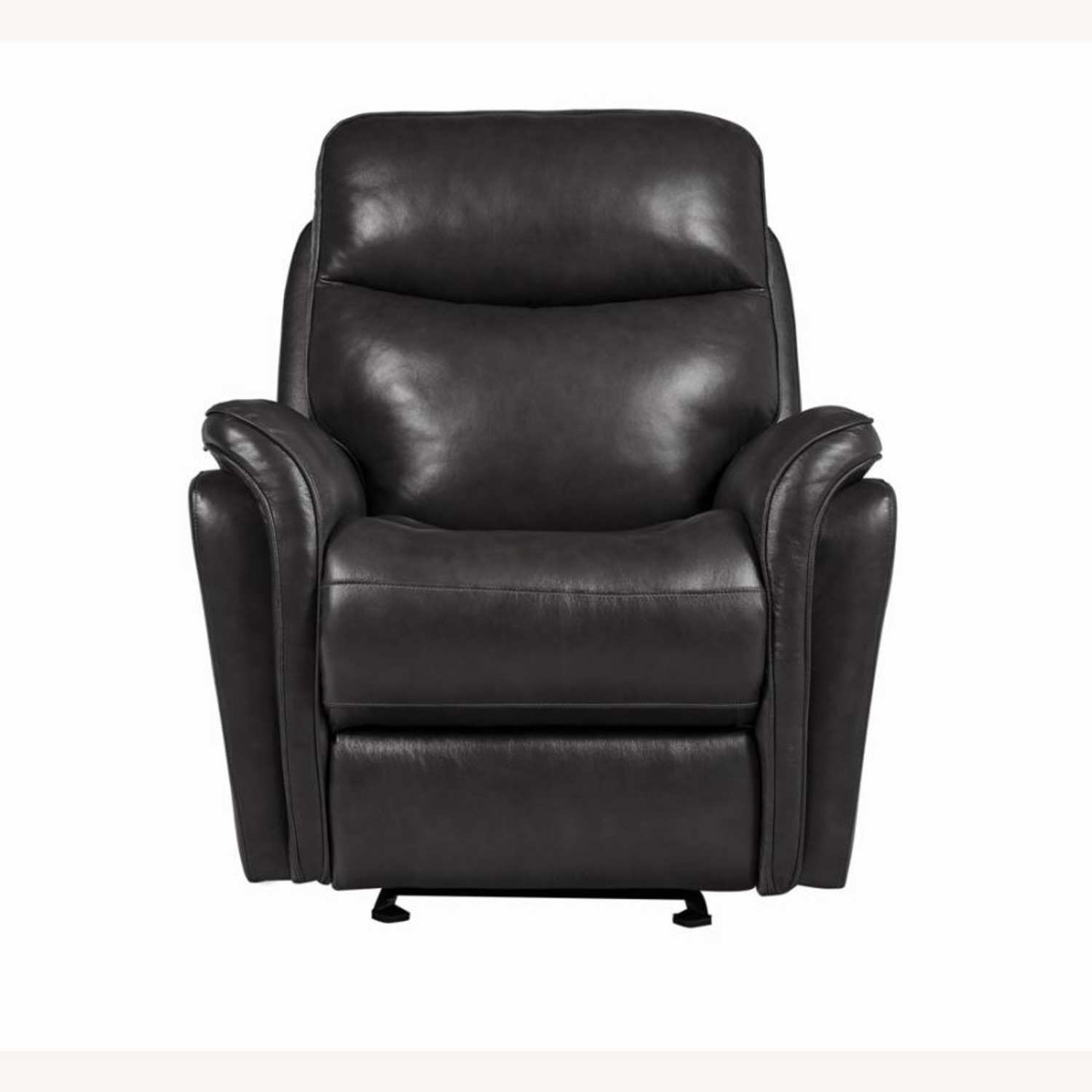 Power Glider Recliner In Charcoal Leather - image-2