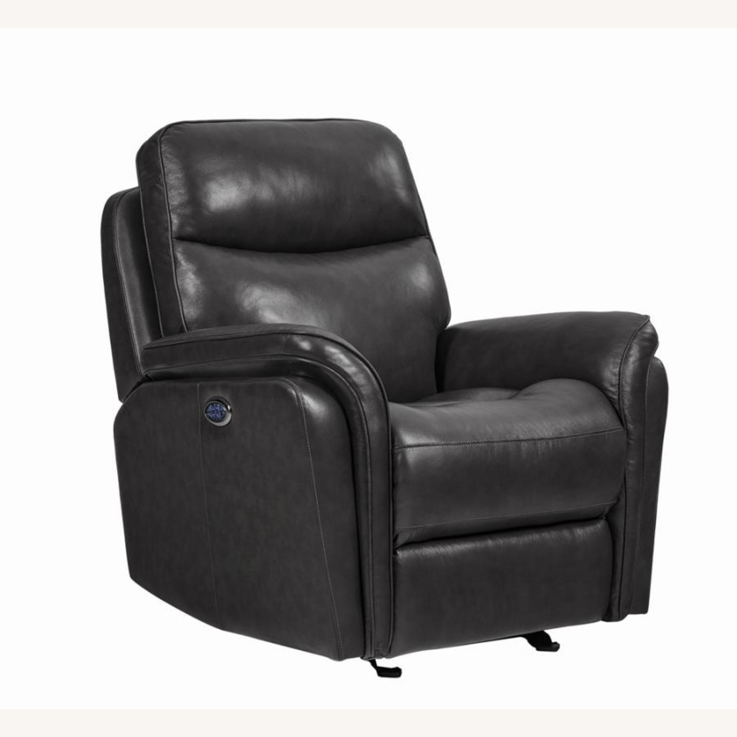 Power Glider Recliner In Charcoal Leather - image-0