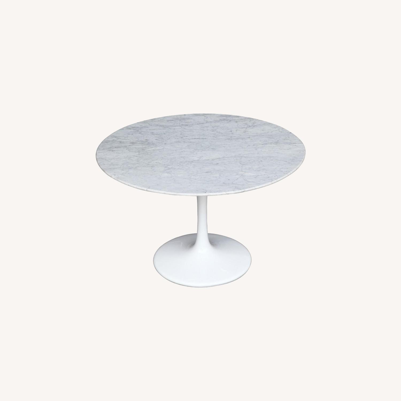 White Marble Top Table w/ Fiberglass Base - image-6