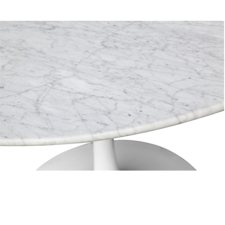 White Marble Top Table w/ Fiberglass Base - image-4