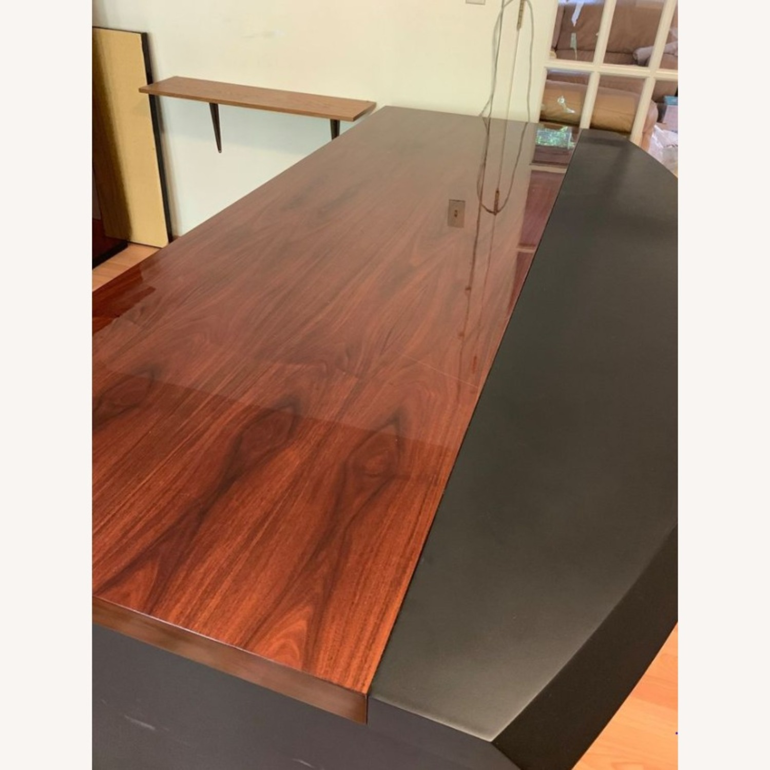 Executive Office Table with File Cabinet - image-2