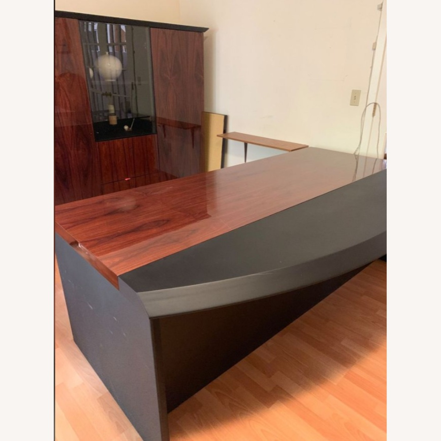 Executive Office Table with File Cabinet - image-3