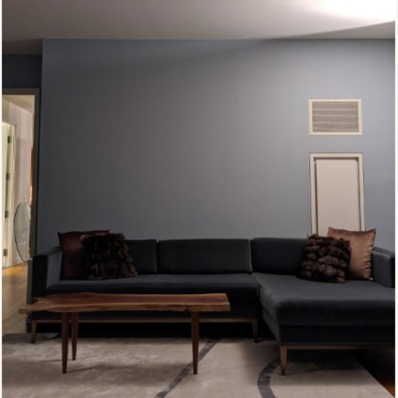 Restoration Hardware Slate Blue Sofa - image-1
