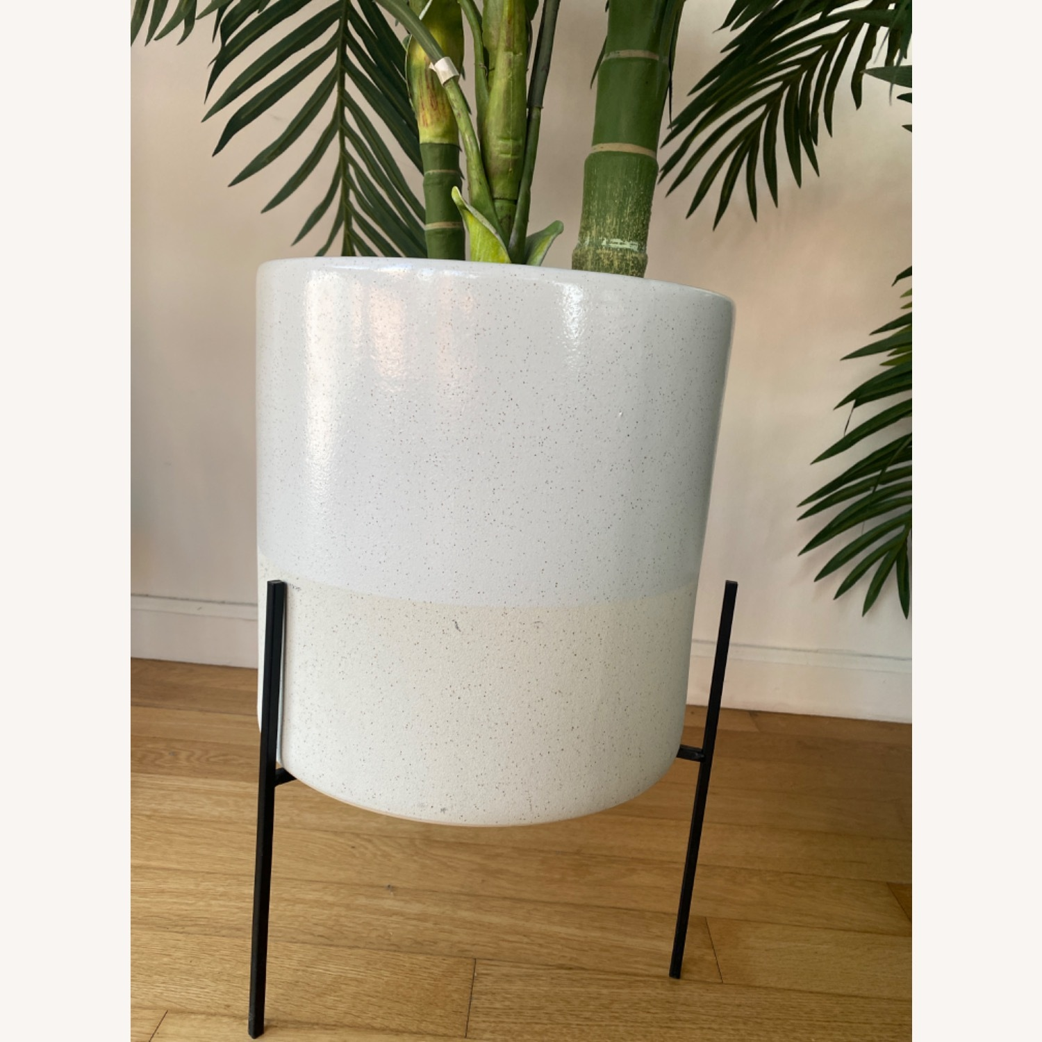 Vintage Plant Holder with Fake Plants - image-5