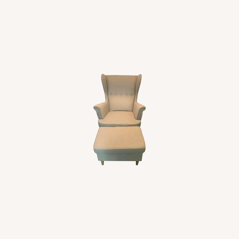 IKEA Strandmon Grey Armchair - image-0
